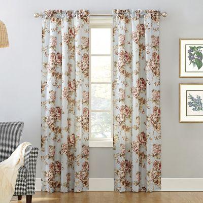 Decorative 2-Pack Annette Floral Window Curtains