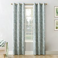 Decorative 2-Pack Nella Floral Jacquard Window Curtains