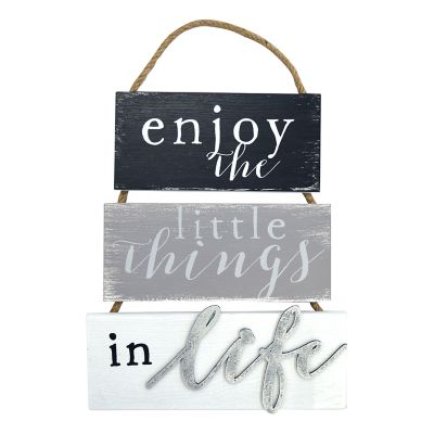 """New View """"Enjoy The Little Things"""" Wall Decor"""