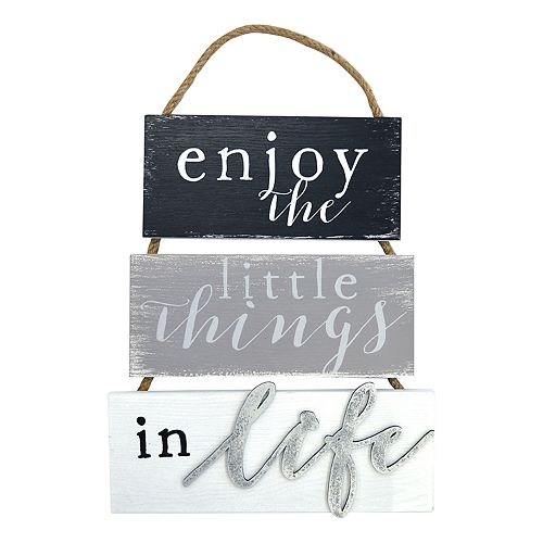"New View ""Enjoy The Little Things"" Wall Decor"