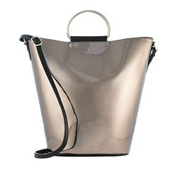 T-Shirt & Jeans Metallic Ring Crossbody Bucket Bag
