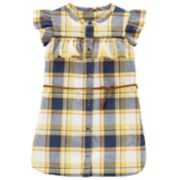 Baby Girl Carter's Plaid Ruffle Belt Dress