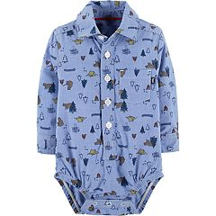 Baby Boy OshKosh B'gosh® Woodland Creatures Button Front Bodysuit