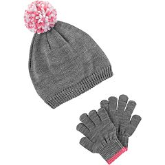 Girls 4-14 Carter's Pom Hat & Gloves Set