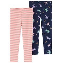 Baby Girl Carter's 2-pack Unicorn & Striped Leggings