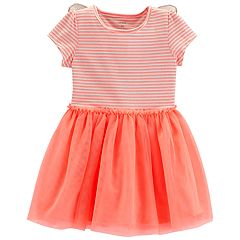 Baby Girl Carter's Butterfly Striped Tulle Dress