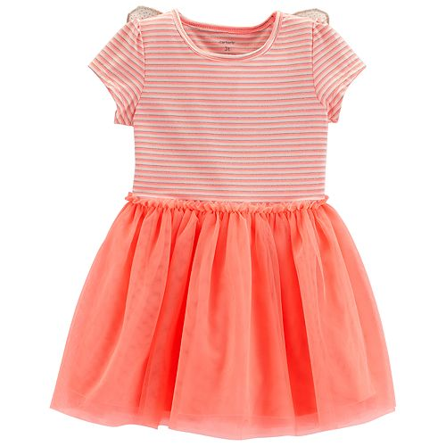 9d9e400af724a Baby Girl Carter's Butterfly Striped Tulle Dress