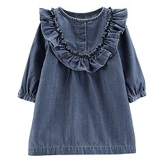 Baby Girl Carter's Ruffled Chambray Dress