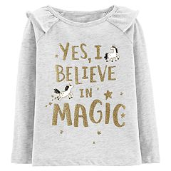 Baby Girl Carter's 'Yes I Believe In Magic' Glitter Graphic Top