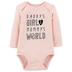 Baby Girl Carter's 'Daddy's Girl & Mommy's World' Bodysuit