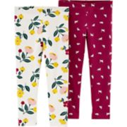 Baby Girl Carter's 2-pack Floral & Kitty Leggings