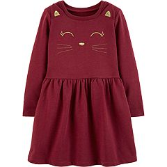 Baby Girl Carter's Embroidered Cat Dress