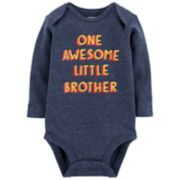 "Baby Boy Carter's ""One Awesome Little Brother"" Bodysuit"