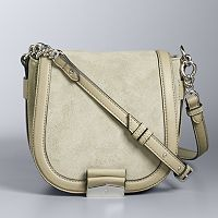 Simply Vera Vera Wang Monte Suede Saddle Bag