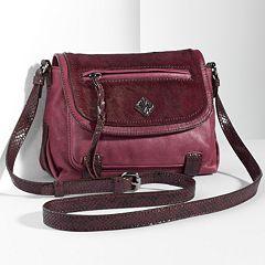 Simply Vera Vera Wang Geneva Leather Crossbody