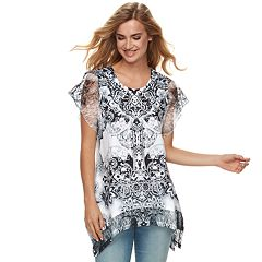 Women's World Unity Lace Shark-Bite Top