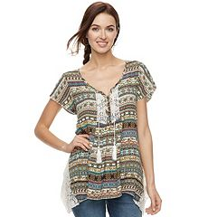Women's World Unity Flutter Henley Top