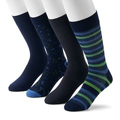 Men's Croft & Barrow® 4-Pack Opticool Crew Socks