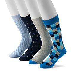 a8c635efc2306 Men's Croft & Barrow® 4-Pack Opticool Crew Socks