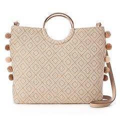 LC Lauren Conrad O-Ring Geometric Convertible Crossbody Bag