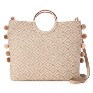 LC Lauren Conrad O-Ring Geometric Convertible Crossbody Bag