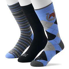 Men's Funky Socks 3-pack Casual Crew Socks