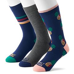 Men's Funky Socks 3-pack Americana Casual Crew Socks