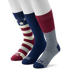 Men's Funky Socks 3-pack Americana Casual Crew Socks