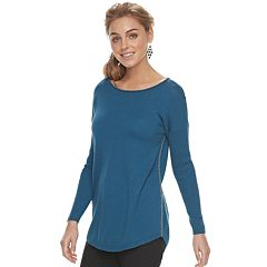 Women's Apt. 9® Lurex Boatneck Tunic Sweater