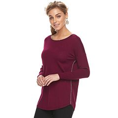 1c2343eae0b Women s Apt. 9® Lurex Boatneck Tunic Sweater