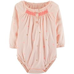 Baby Girl OshKosh B'gosh® Smocked Embroidered Bodysuit