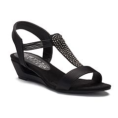 New York Transit Add Me Women's Strappy Wedge Sandals