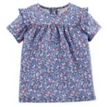 Toddler Girl OshKosh B'gosh® Ruffled Floral Top