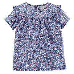 Toddler Girl OshKosh B'gosh® Ruffled Floral Top