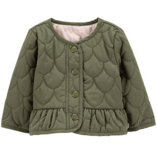 Baby Girl OshKosh B'gosh® Peplum-Hem Quilted Jacket