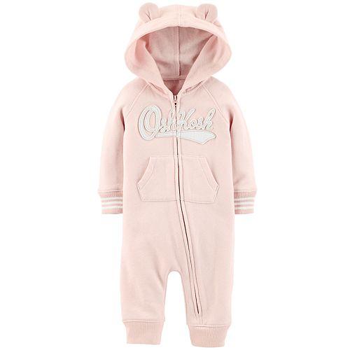 Baby Girl OshKosh B'gosh® Hooded Fleece Coverall