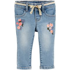 Baby Girl OshKosh B'gosh® Floral Embroidered Jeans