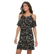 Women's Apt. 9® Strappy Cold-Shoulder A-Line Dress