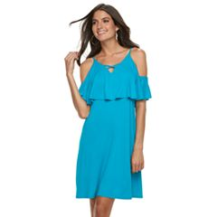Women's Apt. 9® Strappy Cold-Shoulder A-Line Dress