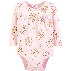 Baby Girl OshKosh B'gosh® Glittery Star Pintuck Bodysuit