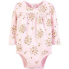 Baby Girl OshKosh B'gosh® Glittery Star Pintuck Bodysuit