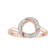 Stella Grace 10k Rose Gold 1/10 Carat T.W. Diamond Circle Ring