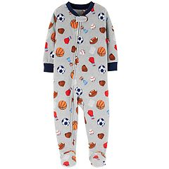 Baby Boy Carter's Microfleece Sports Footed Pajamas