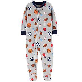 Baby Boy Carter's Microfleece Sports Footed Pajamas