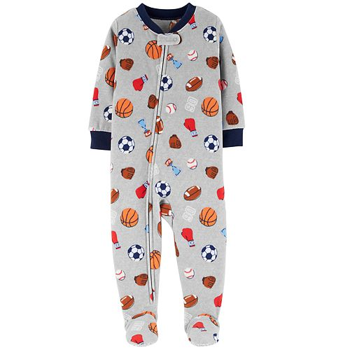 af9f9fcdcc2e Baby Boy Carter s Microfleece Sports Footed Pajamas