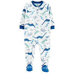 Baby Boy Carter's Dinosaur Microfleece Footed Pajamas