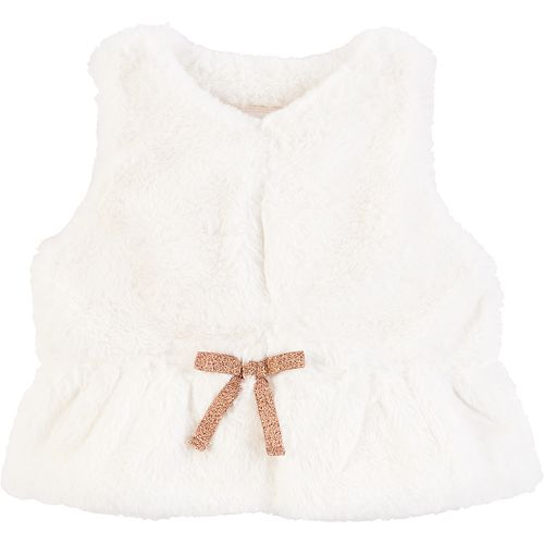 Baby Girl OshKosh B'gosh Faux-Fur Bow Vest