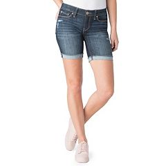 Juniors' DENIZEN from Levi's Cuffed Midi Jean Shorts