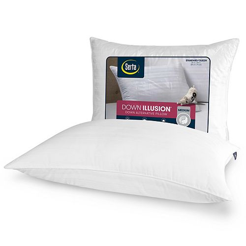 Serta Down Illusion Medium Bed Pillow
