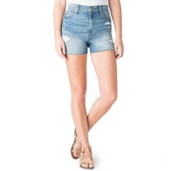 Juniors' DENIZEN from Levi's Distressed High-Waist Jean Shorts